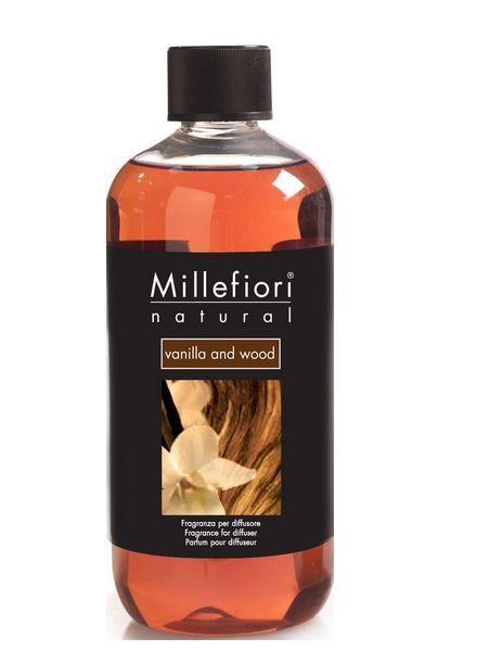 Millefiori Milano  Millefiori Milano Vanilla & Wood Navulling Natural 500ml