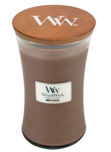 Woodwick WoodWick Large Candle Amber & Incense