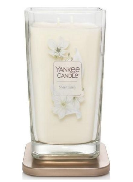 Yankee Candle Yankee Candle Sheer Linen Elevation Large Geurkaars