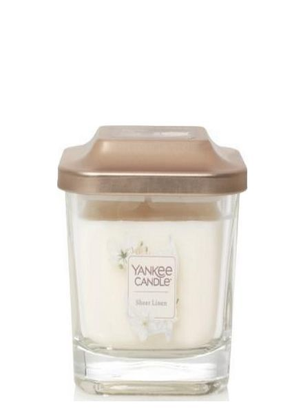 Yankee Candle Sheer Linen Elevation Small Geurkaars