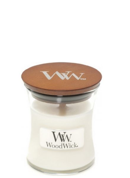 Woodwick WoodWick Mini Candle White Teak