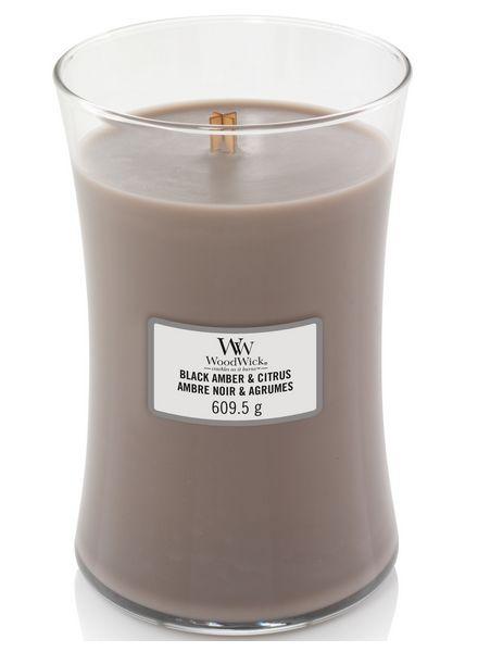 Woodwick WoodWick Large Candle Black Amber & Citrus