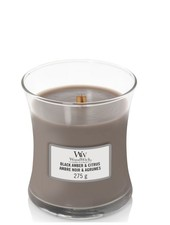 Woodwick Medium Black Amber & Citrus