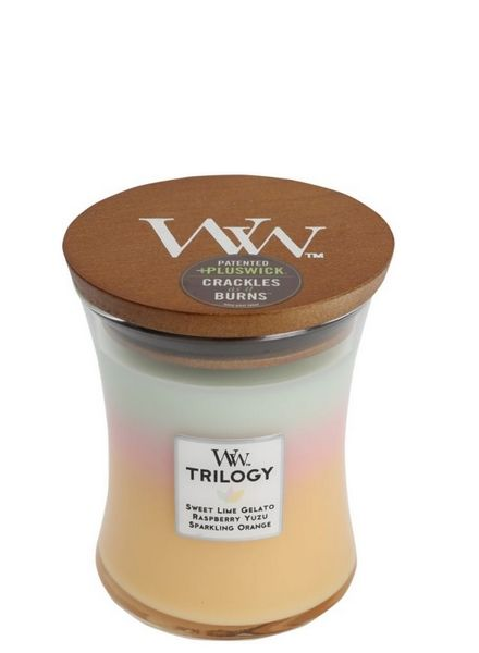 Woodwick WoodWick Summer Sweets Trilogy Medium Candle