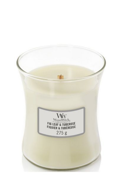 Woodwick Medium Fig Leaf & Tuberose