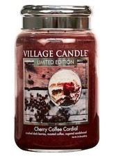 Village Candle Cherry Coffee Cordial Large Jar