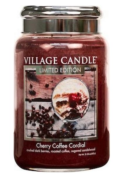 Village Candle Village Candle Cherry Coffee Cordial Large Jar