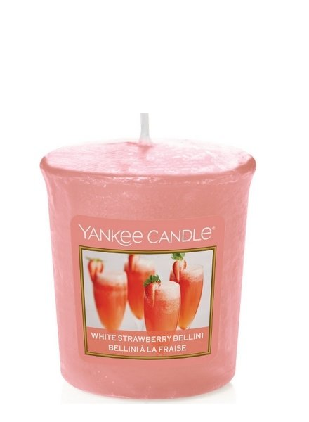 Yankee Candle White Strawberry Bellini Votive