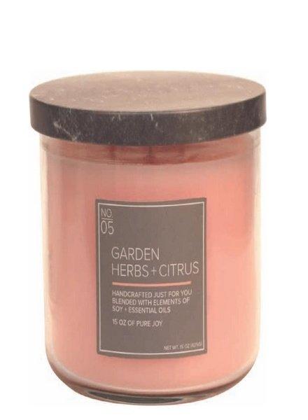 Village Candle Garden Herbs Citrus Medium Bowl