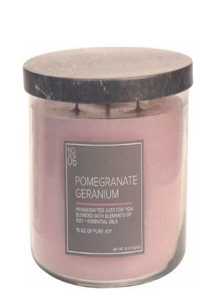 Village Candle Pomegranate Geranium Medium Bowl
