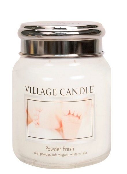 Village Candle Powder Fresh Medium Jar