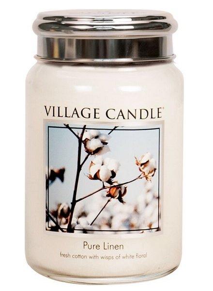 Village Candle Pure Linen Large Jar