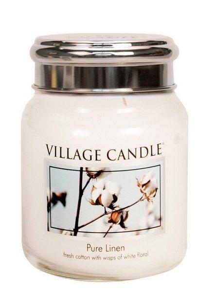 Village Candle Pure Linen Medium Jar