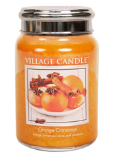 Village Candle Orange Cinnamon Large Jar