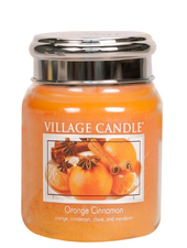 Village Candle Orange Cinnamon Medium Jar
