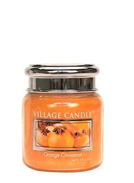 Village Candle Orange Cinnamon Mini Jar