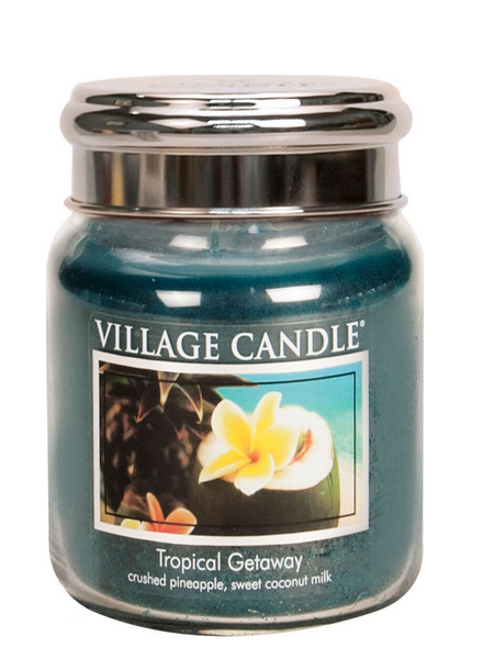 Village Candle Tropical Getaway Medium Jar