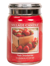 Village Candle Fresh Strawberries Large Jar