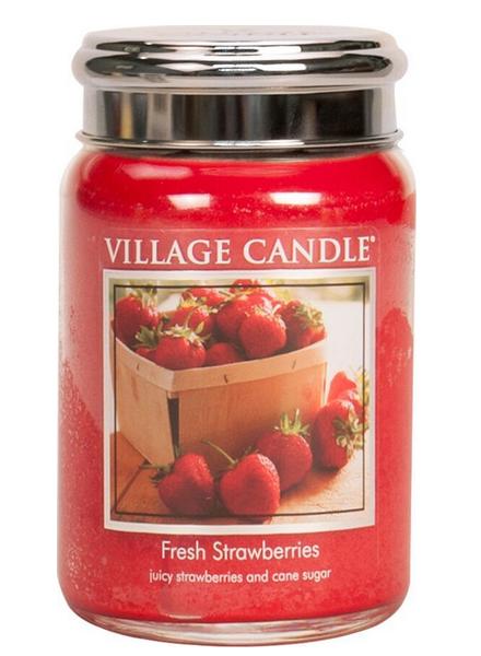 Village Candle Fresh Strawberries Large Jar