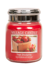 Village Candle Fresh Strawberries Medium Jar