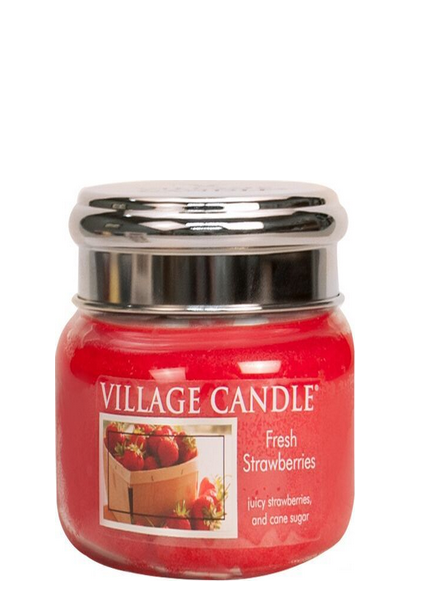 Village Candle Fresh Strawberries Small Jar