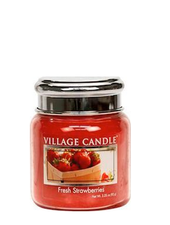 Village Candle Fresh Strawberries Mini Jar