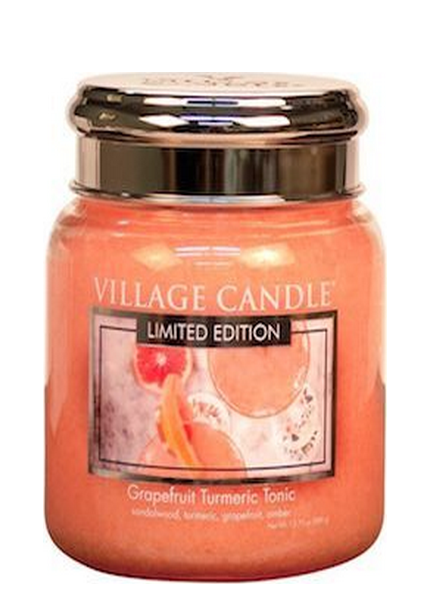Village Candle Grapefruit Turmeric Tonic Medium Jar