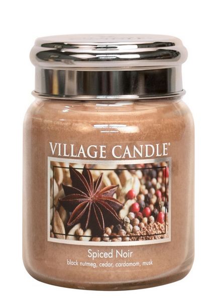 Village Candle Spiced Noir Medium Jar