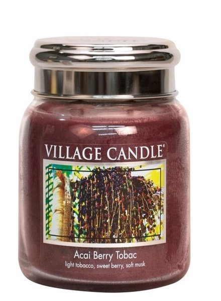 Village Candle Acai Berry Tobac Medium Jar