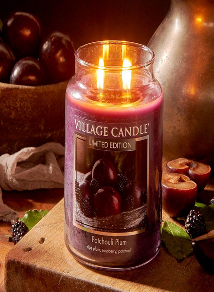 Village Candle Village Candle Patchouli Plum Medium Jar