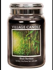 Village Candle Black Bamboo Large Jar