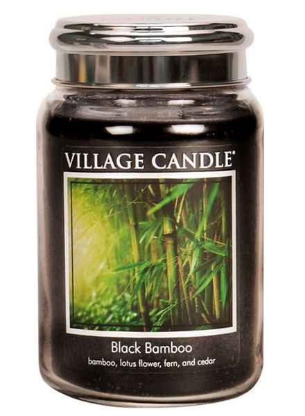Village Candle Black Bamboo Large Jar