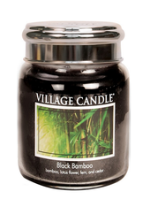 Village Candle Black Bamboo Medium Jar