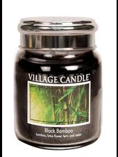 Village Candle Black Bamboo Medium Jar