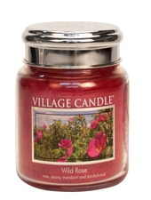 Village Candle Wild Rose Medium Jar