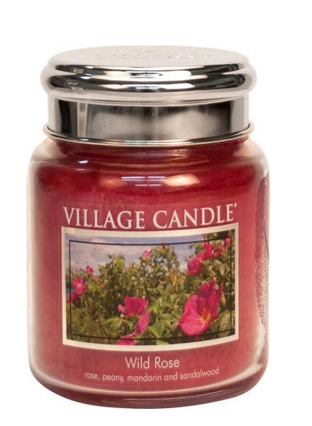 Village Candle Wild Rose Medium Jar