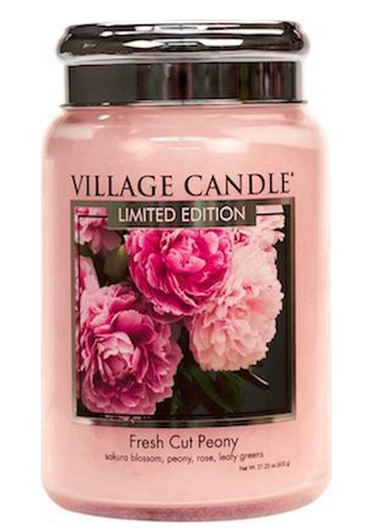 Village Candle Village Candle Fresh Cut Peony Large Jar