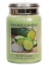 Village Candle Sea Salt Cucumber Large Jar