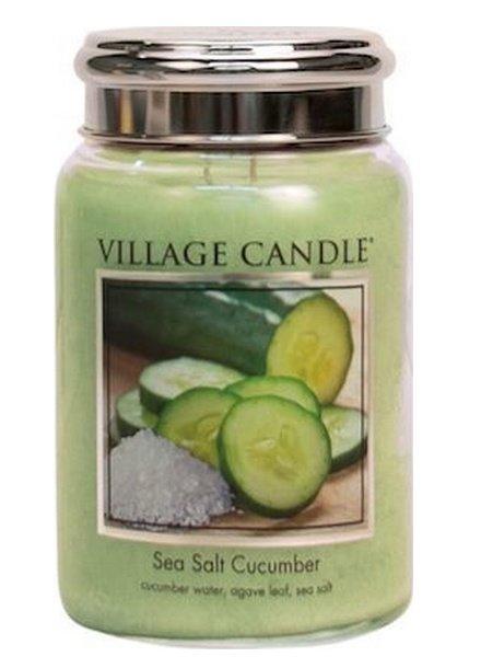 Village Candle Sea Salt Cucumber Large Jar