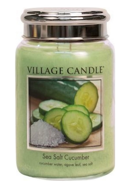 Village Candle Village Candle Sea Salt Cucumber Large Jar