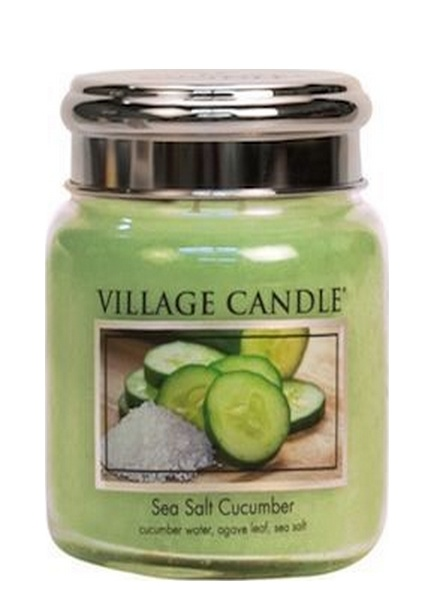 Village Candle Village Candle Sea Salt Cucumber Medium Jar
