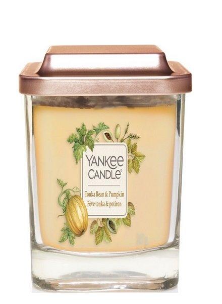 Yankee Candle Tonka Bean & Pumpkin Elevation Medium Geurkaars
