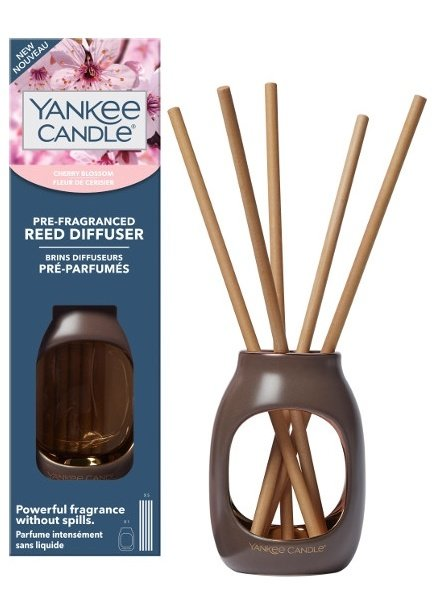 Yankee Candle Cherry Blossom Pre-Fragranced Reed Diffuser Starter Kit