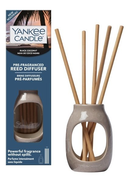 Yankee Candle Black Coconut Pre-Fragranced Reed Diffuser Starter Kit