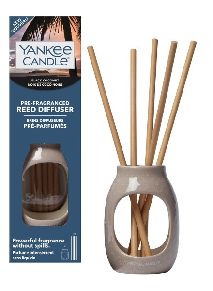 Yankee Candle Yankee Candle Black Coconut Pre-Fragranced Reed Diffuser Starter Kit