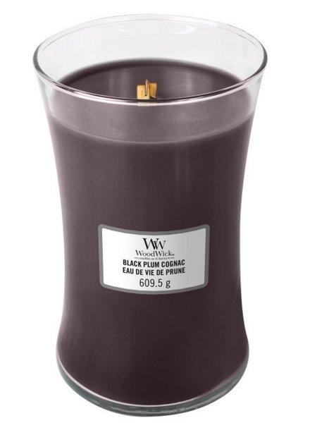 Woodwick Large Black Plum Cognac