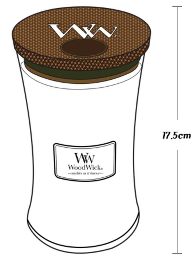 Woodwick WoodWick Large Candle Black Plum Cognac