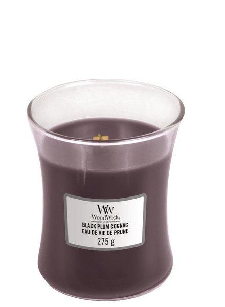 Woodwick Medium Black Plum Cognac