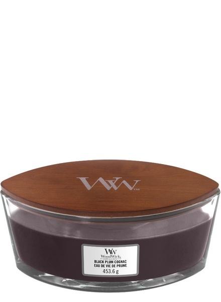 Woodwick WoodWick Ellipse Black Plum Cognac
