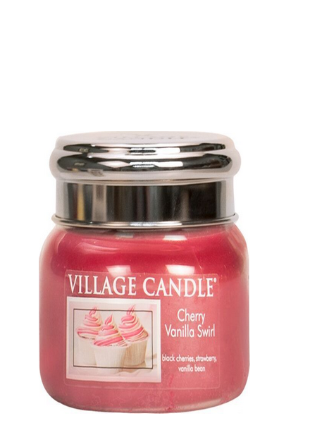 Village Candle Cherry Vanilla Swirl Small Jar